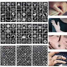 1 лист 48 или 12 карт хна трафареты для тату лак для ногтей аэрограф хна тату ручной
