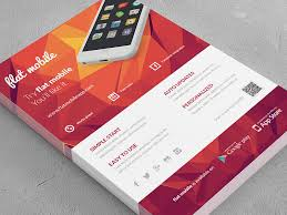 Design Flyer App Mobile Application Phone App Flyer 3 By Rounded Hexagon