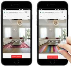consumers can upload their rooms to smartphones and quickly see how various rugs from rugsusa will look in their own homes
