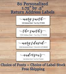 Monogram Return Address Labels Return Labels Rome Fontanacountryinn Com
