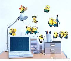 minion wall stickers minions switch sticker wall stickers deable me 2 removable wall decals home decor