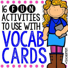 vocab cards with pictures creative easy games and activities to use with flashcards buck