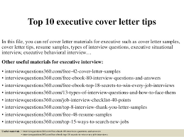 Best Cover Letter Top 10 Executive Cover Letter Tips