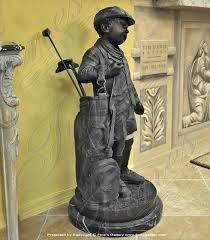 golf garden statues young child golfer bronze statue outdoor garden golf statues