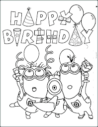 Happybirthday Coloring Pages Dexyarya