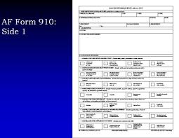 af form 910 enlisted evaluation system ppt download