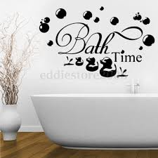 Wall Sticker Bathroom Bath Time Amp Ducks Amp Bubbles Wall Stickers Decal Removable