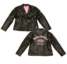 harley davidson reg girls laundered faux leather biker jacket