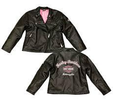harley davidson reg girls laundered faux leather biker jacket