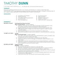 Template For Retail Work Manager Cv Sales