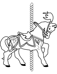 Small Picture Carousel Coloring Page Excellent Classic Carousel With Carousel