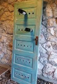 old door bees a new wine rack