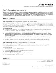 Resume Objective For Banking Best Of Customer Service Representative Resume Sample Bank Resume Examples