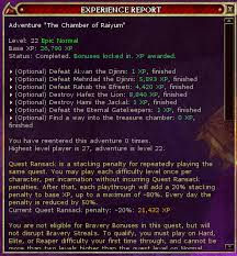Ddo Tr Xp Chart Is This A Known Bug Getting No Xp From Some Wizking