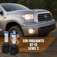2008 Toyota Sequoia Fog Lights 2007 2013 Toyota Tundra Fog Light Led Bulbs Upgrade Ultra Series Cx