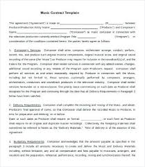 Business Contract Templates Free Sample Example Format Within ...