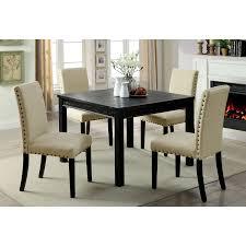 Furniture Of America Kristie Cm3314t 5pk Transitional 5 Piece Dining