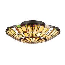 tf1408svb quoizel lighting tf1408svb tiffany flush mount in vintage bronze allquoizellighting