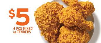 popeyes fried chicken logo. Exellent Chicken 5 For 4 Pieces Mixed Or Tenders Intended Popeyes Fried Chicken Logo E