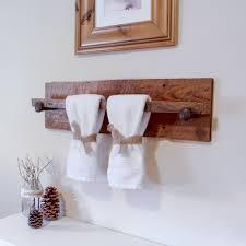 wood towel bar. Rustic Towel Ring Rack Etsy Wood Bar