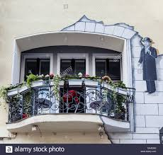 A Boutique Hotel Balcony Of The Hommage Ayen Magritte A Boutique Hotel In Stock