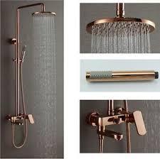 shower faucet with rain head. image is loading rose-gold-polish-8-034-brass-rain-shower- shower faucet with rain head a
