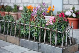 wooden garden fence ideas and styles for a natural look image of easy