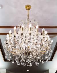 elegant crystal chandelier stock photo
