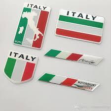 2019 New <b>Fashion Quality 3D Aluminum</b> ITALY Flag Car Badge ...