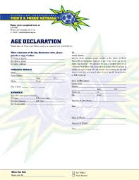 Declaration Of Age Format Fill Online Printable Fillable Blank