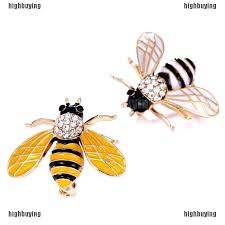 ღღ Delicate Little Bee <b>Insect</b> Crystal Rhinestone Pin Brooch <b>Jewelry</b> ...