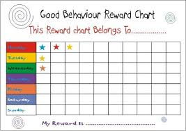 Sticker Charts For Good Behavior Rewards For Good Behavior In Toddlers Reward Chart For