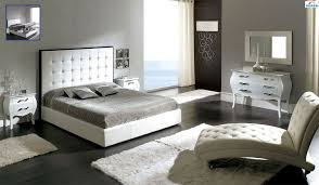 Gallery Stylish White Tufted Bedroom Set White Tufted Headboard With ...