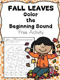 Beginning Sounds -Fall Leaves Phonics Fun -Free Activity | Fun ...