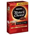 Nescafe instant coffee packets, taster's choice light roast, 1.7 g singles (pack of 80) amazon.com price $13.34 ($2.84 / ounce) (as of 20:02 est more infoproduct prices and availability are accurate as of the taster's choice instant coffee contains 12.25 mg of caffeine per fl oz (41.42 mg per 100 ml). Nescafe Taster S Choice House Blend Light Roast Instant Coffee 7oz Target