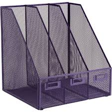 Purple Magazine Holder OSCO Mesh Triple Magazine Rack Purple Staples 8