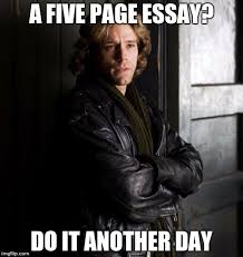 procrastination flip procrastination a five page essay do it another day image tagged in roger