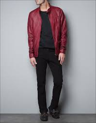 leather jackets red leather biker jacket for mens where to find red leather biker