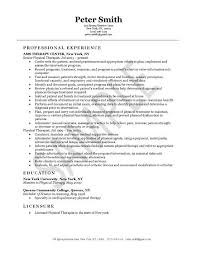Physical Therapist Resume Example Pinterest Resume Examples And