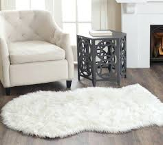 fake sheepskin rug sheepskins white