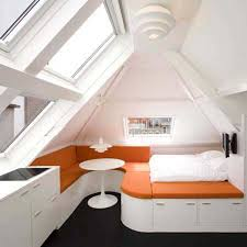 Awesome Loft Bedroom Design With Brilliant Ideas In White Nuance Eye  Catching ...