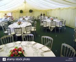 Reception Table Set Up Tables Set Up For Wedding Reception In Marquee In