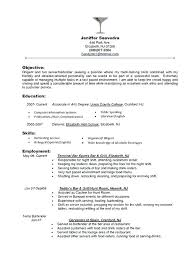 Server Resume Skills Examples Example Of Bartender Resume Resume ...