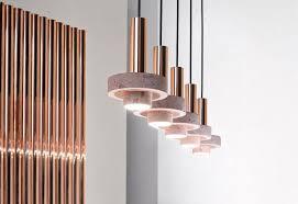 rose copper light pendants ambra pendant