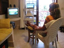 Belize Report Watching TV The Hard Way - Comfortable tv chair