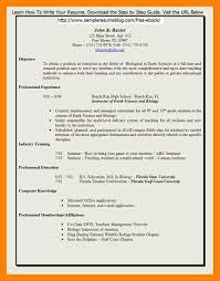 Resume For Home Science Teacher Teacher Resume Format In Word