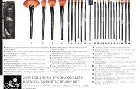 mac makeup quality natural cosmetic brush set with leather pouch 24 count ebay