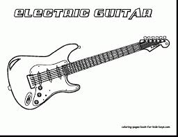 coloring pages bass guitar for provide kid guitar