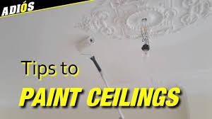 Plafond Schilderentips Om Een Plafond Te Witten Youtube