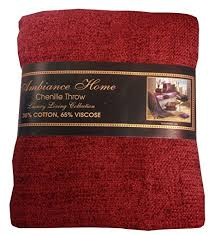 Burgundy Chenille Throw Blanket